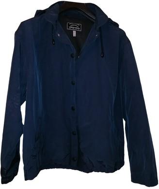 Giorgio Armani Navy Cotton Trench Coat for Women Vintage