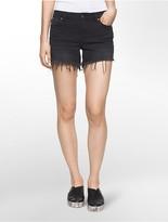 Calvin Klein Black Denim Cutoff Shorts
