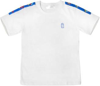 White T-Shirt With Handmade Phulkari Embroidery