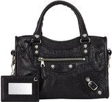 Balenciaga Women's Arena Leather Giant Mini City Bag