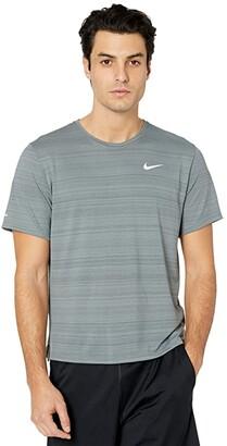 Nike Dri-Fit Miler Top Short Sleeve (White/Reflective Silver) Men's Clothing