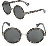 Dries Van Noten 50mm Round Sunglasses