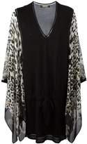 Roberto Cavalli leopard print shift dress