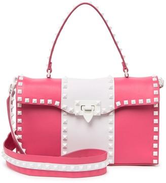 Valentino Two-Tone Studded Top Handle Bag