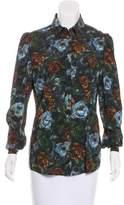Dolce & Gabbana Silk Floral Print Button-Up