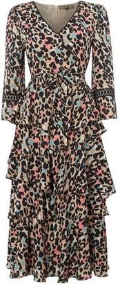 Biba Leopard Kimono Dress
