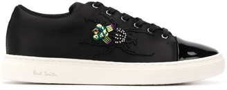 Paul Smith Embroidered Patent Toe Trainers