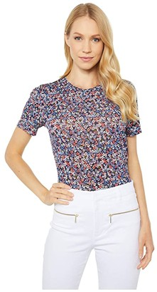 MICHAEL Michael Kors Dainty Bloom Baby Tee (Coral Peach) Women's T Shirt