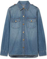 Current/Elliott The Perfect Denim Shirt - Mid denim