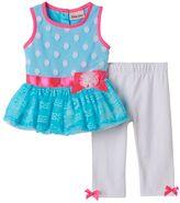 Little Lass Baby Girl Lace Tunic & Leggings Set