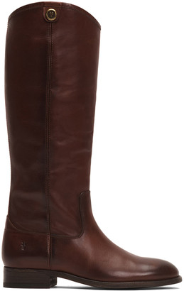Frye Women's Casual boots redwood - Redwood Melissa Button Leather Boot - Women