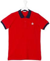 Moncler classic polo shirt - kids - Cotton - 14 yrs