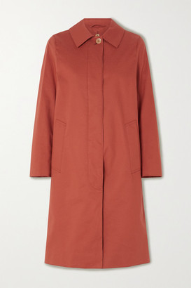 MACKINTOSH Dunkeld Bonded Cotton Coat - Orange