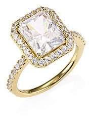Adriana Orsini Women's 18K Yellow Goldplated Sterling Silver Framed Rectangular Ring