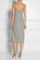 The Row Andries wool-twill strapless dress