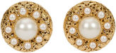One Kings Lane Vintage 1960s Chanel Filigree Pearl Earrings