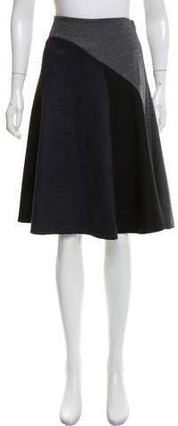 Derek Lam Wool-Blend Colorblock Skirt w/ Tags
