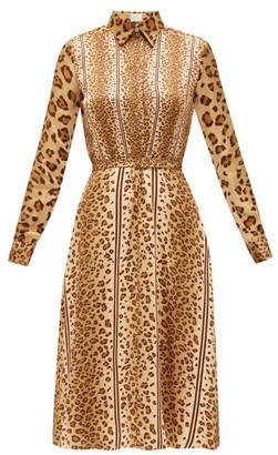 Hillier Bartley Belted Leopard-print Satin Shirt Dress - Womens - Animal