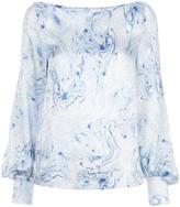 Baum und Pferdgarten Marble-Print Blouson-Sleeved Blouse