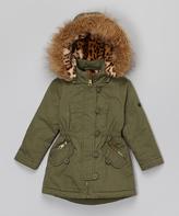 Urban Republic Olive Faux Fur Coat - Infant & Toddler