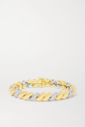 Buccellati 18-karat Yellow And White Gold Diamond Bracelet