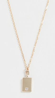 Jennie Kwon Designs 14k Rectangle Diamond Mirror Pendant Necklace