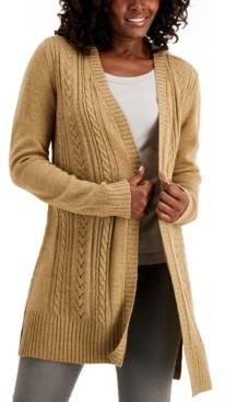 Karen Scott Pointelle-Knit Long Cardigan, Created for Macy's