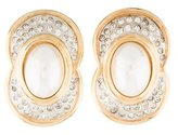 Valentino Faux Pearl & Crystal Clip-On Earrings