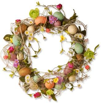 National Tree Company Springtime Artificial Easter Egg Wreath