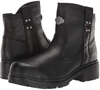 Harley-Davidson Camfield Steel Toe (Black) Women's Work Boots