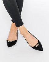 London Rebel North Bow Point Flat Shoes