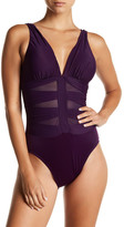 Miraclesuit Miracle Suit V-Neck Ruched One-Piece Swimsuit