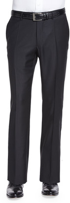 Super 150s Wool/Cashmere Trousers, Black