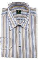 Robert Talbott Skinny-Striped Woven Dress Shirt, Sky