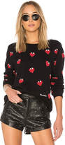 Lauren Moshi Noleta Vintage Pullover Sweatshirt in Black. - size L (also in S,XS)