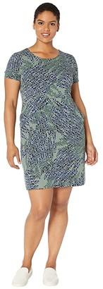 Nic+Zoe Plus Size Leaf Direction Dress (Multi) Women's Clothing