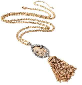 Amrita Singh Women's Earrings Gold/Silver - Two-Tone Zahira Tassel Lariat Necklace