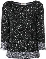 MICHAEL Michael Kors floral pattern turtleneck blouse