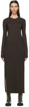 Our Legacy Brown Full Jersey Dress