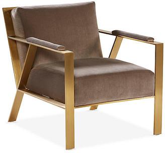 One Kings Lane Baran Accent Chair - Mushroom