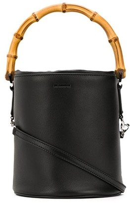 Jil Sander bamboo handle bucket bag