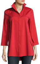 Lafayette 148 New York Stretch Cotton Marla Shirt