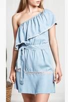 Saylor Denim One Shoulder Dress