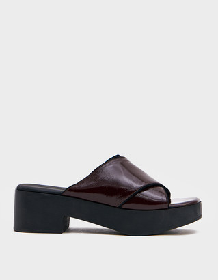 Rachel Comey Women's Serge Clog in Red Shoes, Size 8.5 | Leather/Rubber