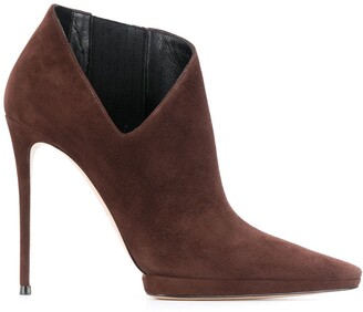 Casadei Cut-Out Detail Ankle Boots