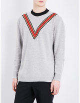 Stella Mccartney V-detailed Cashmere-blend Jumper