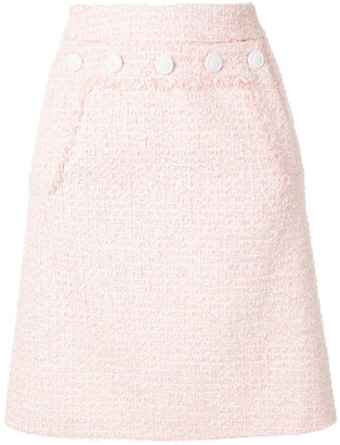 Paule Ka High Waisted Pencil Skirt