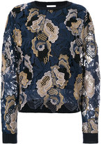 See by Chloé embroidered floral sweater