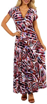 24/7 Comfort Apparel Eye Maxi Dress