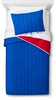 Nobrand No Brand Reversible Quilt Set - Red-Blue (Full-Queen)